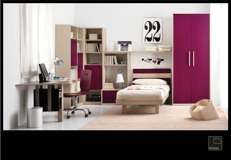 Camera ragazza moderna design originale camera ragazze idee di decorazione camera da letto muro - Camera per ragazze ...